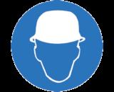 Работать в защитной каске (шлеме) (M02)